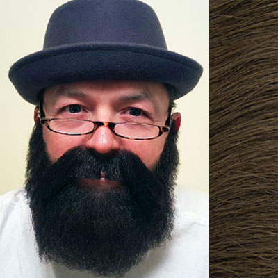 Beard & Moustache Combination MB4 Colour 8 - Medium Brown Human Hair BMI