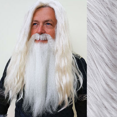 Dumbledore Wig, Beard & Moustache Set Colour 60 Silver Grey - Synthetic Hair - BMW