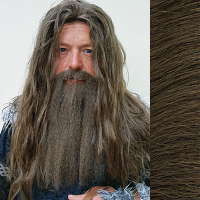 Hagrid Beard & Moustache Colour 8 Brown - Synthetic Hair - BMI